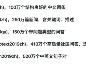 大量的中文语料库